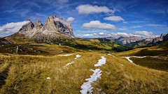 Dolomite Alps - Explored (Achim Thomae) Tags: italien italy alps landscape september alpen landschaft unescoworldheritage dolomites dolomiten 2015 langkofel sellajoch thomae achimthomae unescoweltnaturerbe copyrightachimthomae