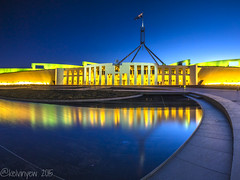 Road to Parliament (K Yew) Tags: canberra bluehour capitalhill act parliamenthouse