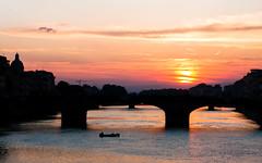 (GaRiTsanG) Tags: bridge sunset italy canon river florence 40d