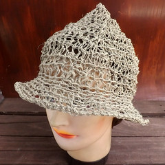 Crochet Hat Womens Hat, Womens Summer Hat Women, 2 Inch Wide Brim Hat Women, Hemp Cord Hat, Natural Hat, Boho Hat, Hemp Sun Hat, SHADY LADY (strawberrycouture) Tags: summer hat cord strawberry women natural crochet wide womens chic boho couture hemp brim