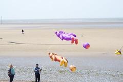 CTW2015 [28] (Ian R. Simpson) Tags: bear sea sky kite beach flying skies bears flight kites lancashire shore morecambe kitefestival morecambebay catchthewind2015