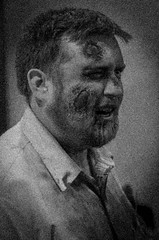 Portrait Of A Zombie (Michael P Bartlett) Tags: bw halloween dead mono scary zombie makeup albany comicbooks comiccon albanycomiccon