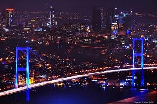 Aerial Bosphorus Bridge Istanbul