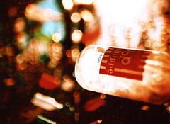 Porst SP Bottle Tree Village 4 (▓▓▒▒░░) Tags: elmer long bottle tree sculpture outsider art classic vintage retro film camera california mojave desert glass colors roadside pop shoppe soda bokeh tiltshift
