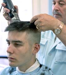 Aristotelis Flat-top no5 (John Elmslie) Tags: street portrait haircut toronto west men flat top queen barber flattop hairstylists aristotelis