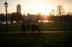Autumn sunset - Hyde Park (GL photographie) Tags: life park street uk sunset england london nikon sigma hyde 30mm d7000