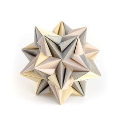 Cloud (_Ekaterina) Tags: white grey origami paperfolding kami modularorigami kusudama unitorigami ekaterinalukasheva