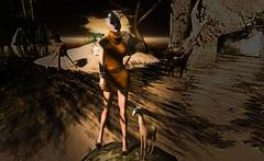 Look#032 (LoneSolitarian) Tags: life light shadow people woman art girl beauty fashion female dark photography photo 3d model feminine avatar gimp charm sl safari human secondlife virtual jungle blonde attractive second lone giraffe lovely sim firestorm windlight lumipro makeahlajungle