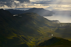 knoydart evening (ela dzimitko) Tags: light sunset mountains green scotland remote wilderness knoydart