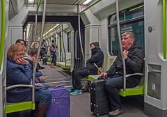 Metro Trip (Valencia) (Panasonic Lumix GX8 & Panasonic 14mm Pancake Prime) (markdbaynham) Tags: people valencia lumix prime spain metro transport evil panasonic espana espanol pancake es f25 dmc csc gx8 spainish m43 14mm mft valencian mirrorless m3rd micro43 microfourthirds lumixer