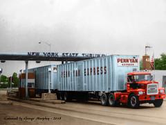 Brockway Penn Yan NYS Thruway (gdmey) Tags: truck colorized brockway huskie brockwaytruck