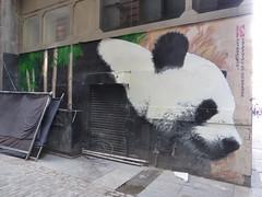 Giant panda graffiti mural, Klingatron, Glasgow (duncan) Tags: graffiti stencil mural panda glasgow giantpanda klingatron
