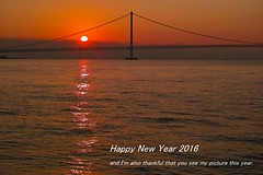 20160101_DP3M7374_NewYear's Card (NAMARA EXPRESS) Tags: greeting 2017 happynewyear sunrise dawn sun bridge sea wave reflection shine sky cloud landscape newyear fine outdoor color akashi hyogo japan foveon sigma dp3 merrill namaraexp