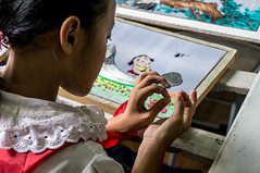 Children's Palace: Girl in Embroidery Class