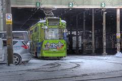 Sapporo on DEC 27, 2015 (34) (wakkanai097) Tags: winter japan sapporo nikon hokkaido december tram hdr tramcar p7700