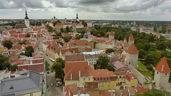 Tallinn old town - a view from the tower of St. Olaf's church (Oleviste kirik, Tallinn, 20150728) (RainoL) Tags: summer urban landscape geotagged tallinn estonia july oldtown est vanalinn 2015 harjumaa olevistekirik stolafschurch 201507 20150728 geo:lat=5944143153 geo:lon=2474761605