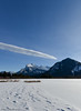 Mt. Rundle seen from Vermilion Lakes (Witty nickname) Tags: winter mountain lake snow canada mountains cold ice bluesky alberta banff fullframe fx mountrundle frozenlake d800 banffnationalpark mtrundle 2470mm nikkor2470mmf28 nikond800