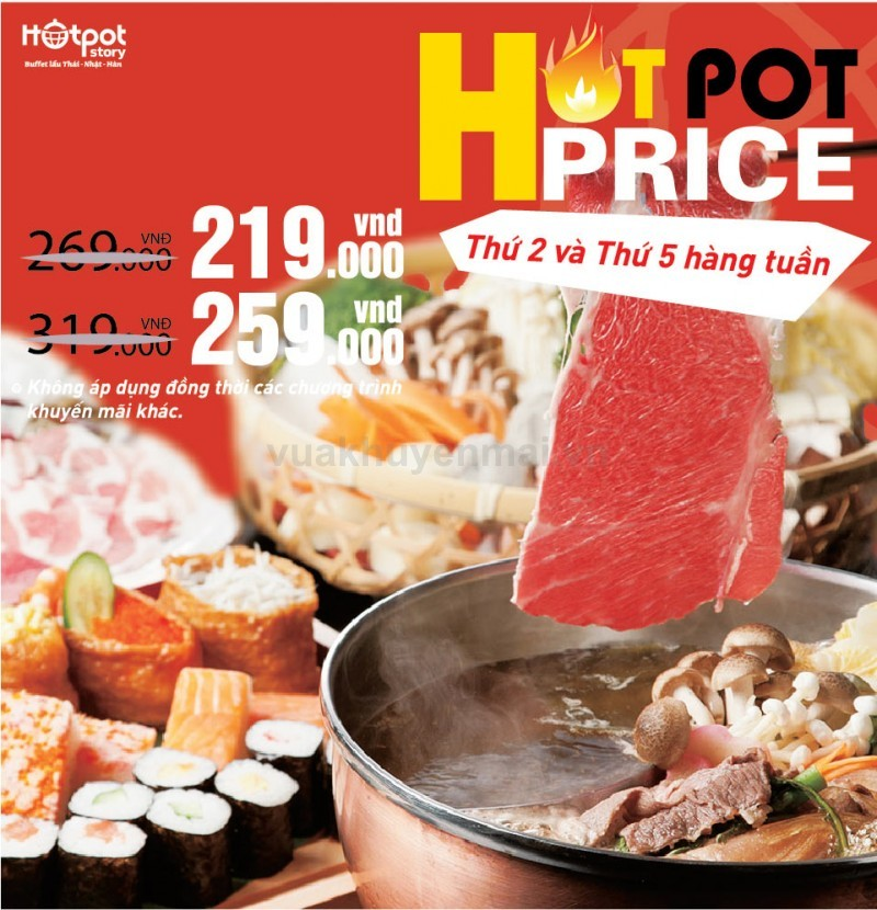 Hot Price tại Hotpot Story TPHCM