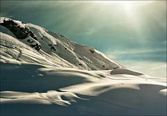 Light and shadows (Katarina 2353) Tags: winter light sunset shadow mountain snow alps film landscape switzerland nikon snowy swiss katarinastefanovic katarina2353