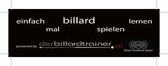 Pickerl NEU +BAB derbillardtrainer druck (Karl Maschler derbillardtrainer.at) Tags: 3cushionbilliards billrd billiards 3band world sport cue queue