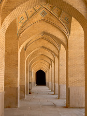 Long brick Muslim archway to the Vakil mosque - Shiraz, Iran (Germn Vogel) Tags: asia middleeast middleeastculture silkroad westasia iran iranian islamicrepublic fars shiraz vakil vakilmosque mosque muslim muslimculture islam islamic architecture hallway colonnade arch brick vanishingpoint 18thcentury travel traveldestinations traveltourism tourism touristattractions archway
