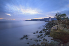 Waiting game (<Pirate>) Tags: sungai batu sunset last september 30th 2016 long exposures haida 10stop landscpae seascape water teluk bayu kumbar bayan lepas 1018 is stm penang malaysia