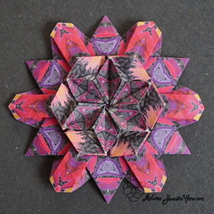 Iimori Flower A (Yureiko) Tags: yureiko tessellation papierfalten papier origami paperfolding paper