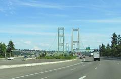 Tacoma Narrows Bridge (Stabbur's Master) Tags: bridge famousbridges suspensionbridge twinsuspensionbridges tacomanarrowsbridge tacomanarrowsstrait washingtonstate washington mtrainier volcano