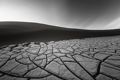 Baked Mud (David Colombo Photography) Tags: deathvalley dunes mesquitedunes sanddunes sunset blackandwhite fineart stovepipewells california nationalpark sand bakedmud cracked mud landscape outdoor nikon d800 davidcolombo davidcolombophotography sky light shadow deathvalleynationalpark