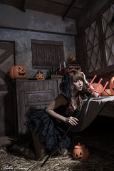 DSC_7415 (Robin Huang 35) Tags: 孫卉彤 candy miruna萬聖風 小惡魔 吸血鬼 vampire 萬聖節 halloween 棚拍 lady girl d810 nikon devil