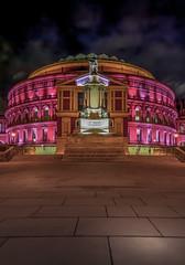 The way to success (aurlien.leroch) Tags: england uk londres london royalalberthall night cityscape pink nikon d3000