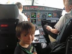 IMG_4456 (150hp) Tags: young boy xavier family cute happy spring break 2016 trip vacation jfk airport new york city airplane jetliner het cockpit pilot copilot apple iphone 5c