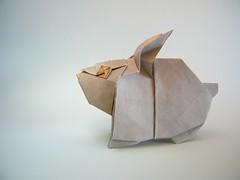 Rabbit - Hiroaki Kobayashi (Rui.Roda) Tags: origami papiroflexia papierfalten lapin conejo coelho rabbit hiroaki kobayashi