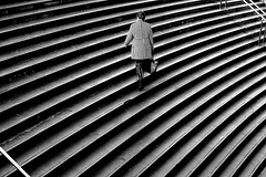 By joining the street (pascalcolin1) Tags: paris opra bastille marches escalier staircase femme woman sac bag photoderue streetview urbanarte noiretblanc blackandwhite photopascalcolin