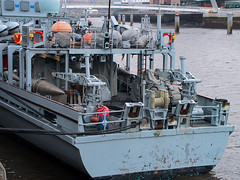 IMG_1174 (wildhareuk) Tags: grey newcastle newcastle2003 powershotpro90is river ship tyne water minesweeper
