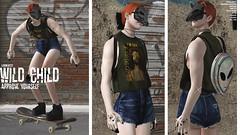 wild child (algorifm (busy in rl)) Tags: sl secondlife slblog blog skater skate wild street ginger denim sick alien