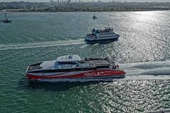 Red Jet - High Speed IOW Ferry (Bertram Ernest) Tags: red jet high speed fawley southampton ferry england uk canon eos 6d 1635mm f4