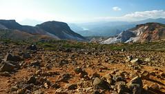 Volcanic crater of Mount Adatara, Fukushima, Japan (Parmanand Sharma) Tags: tohoku japan volcano nature mountains fukushima adatara