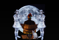 Santa Paul has some new helpers for Sliders Sunday (superdavebrem77) Tags: santa christmas whimsy fantasy composite moon selenology sliderssunday