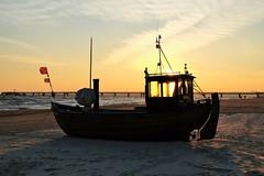 sunup Ahlbeck beach - Baltic Sea Germany (claromann) Tags: claromann baltic sea ostsee sonnenaufgang ahlbeck fischerboot boot strand beach