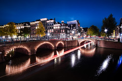 Wonderful Canal View at the Midnight (drclerk) Tags: keizersgracht canal view amstel amsterdam netherlands long exposure stars sky trees autumn