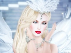 The Fantasy Angels - Angels In Heaven (Jaily -Miss VLMxico 2016) Tags: thefantasyangels jailybailey jaily chopzueyjewellery profile winter ice snow swan