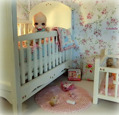 Time to rise and shine (TutuBella) Tags: nappychoo soom mollyrose goodmorning sunshine nursery shannonslilcritters popo bjd crib toys pacifier