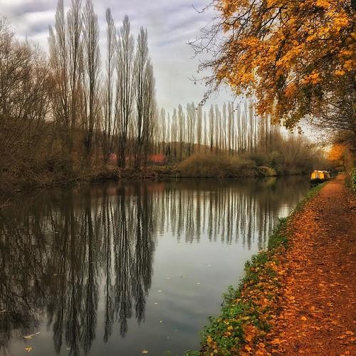 #canalside #boat #nature #landscape #grandunioncanal