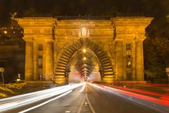 Buda Castle Tunnel (scarlet-pimp) Tags: lightstreak nightphotography canon5d nightimages travelphotography travel budapest buda tunnel architecture longexposure hungary europe budacastletunnel light hu