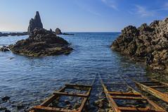 ARRECIFE DE LAS SIRENAS (marodrixx62) Tags: roca paisaje arrecife escaleras azul panoramica islotes