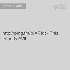 Exactly 7 years ago today I was bitching about the evil spirometer I had to use after my gastric bypass surgery. What a wild and amazing seven years it has been! Even with all the hell and subsequent surgeries I've been through, if given the choice I'd do (Jenn ) Tags: ifttt instagram