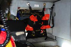MH-65D Aft Cargo Bay (Ian E. Abbott) Tags: uscoastguardairstationsanfrancisco uscgairstationsanfrancisco uscoastguardsfo uscgsfo uscoastguard uscg uscoastguardhelicopters uscghelicopters coastguardhelicopters coastguard helicopters sanfranciscointernationalairport sanfranciscoairport sfo