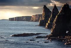 Three Trolls (Grant Morris) Tags: duncansbyhead duncansbystacks scotland rocks rockstack waterscape waterfront water sunrise sunriseoverwater 120300 sigma canon 5d3 grantmorris grantmorrisphotography