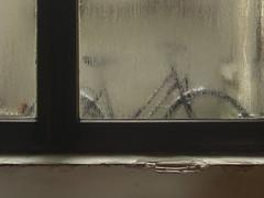 337/365: Living conditions (Kelvin P. Coleman) Tags: canon powershot amiens flat studio apartment appartement wall mur window fenêtre glass verre pane vitre plaster plâtre wet mouillé humide trempé damp humidité condensation mould moisissure mouldy moisi decay délabrement pourri dégradé délabré 365 brown brun marron hdr indoor building home maison domicile bike bicycle vélo bicyclette